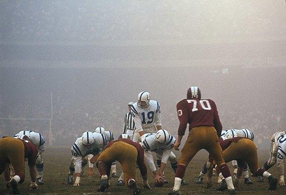 Baltimore Colts vs. Washington Redskins  Baltimore, MD, December 13, 1964