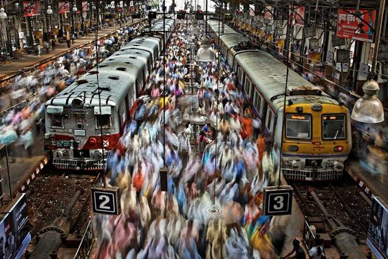 Churchgate Railway Station in Mumbai, 2010