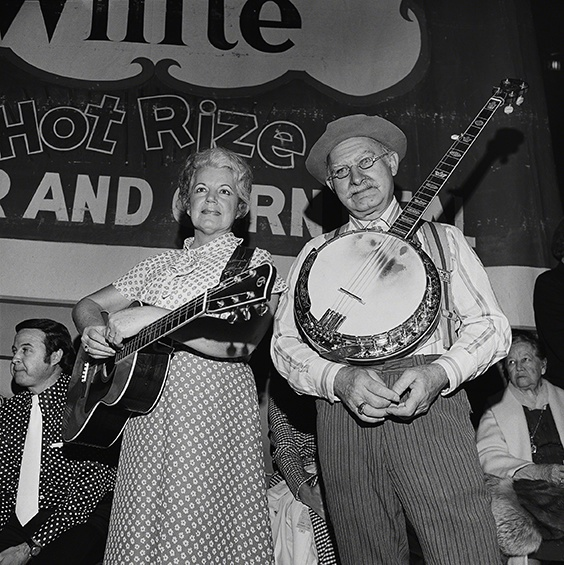 Ramona and Grandpa Jones, Grand Ole Opry, Nashville, 1974