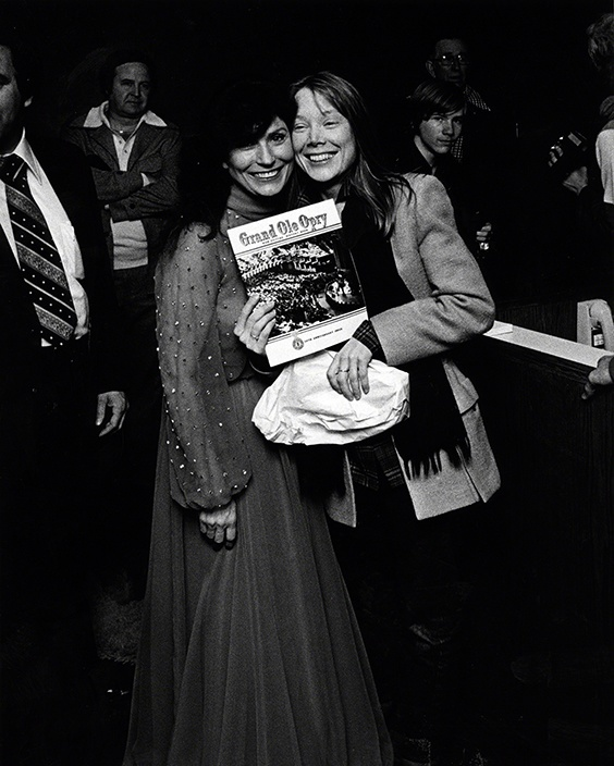 Loretta Lynn and Sissy Spacek at the Grand Ole Opry, 1979