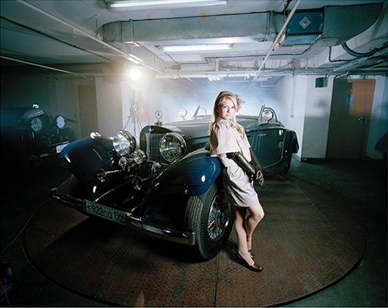 """""""Arina in her Garage, Moscow, 2009,"""" from the series """"Little Adults,"""" portraits of the first generation of children in Russian born into wealth."""