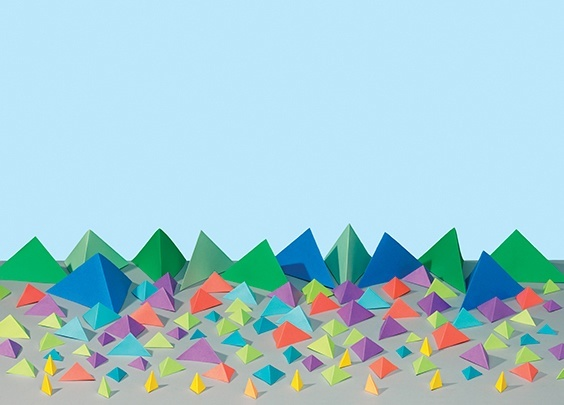 Paperscape, commissioned by Manual Creative for Loose Leaf Edition 2: Landscape.