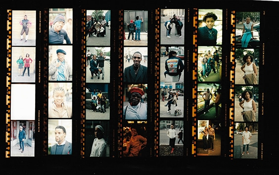 contact sheet,  Brooklyn, 1982