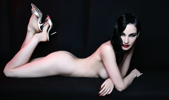Photo by Lionel Deluy for Helmut Newton exhibit