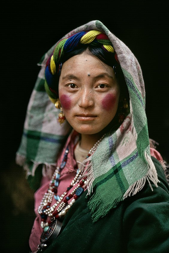 Lhasa, Tibet A Tibetan woman in the Barkhor, the sacred heart of the ancient Tibetan capital of Lhasa. Though recognized as a World Heritage site by the United Nations, much of the Barkhor has been demolished by the Chinese government over the last 15 years.