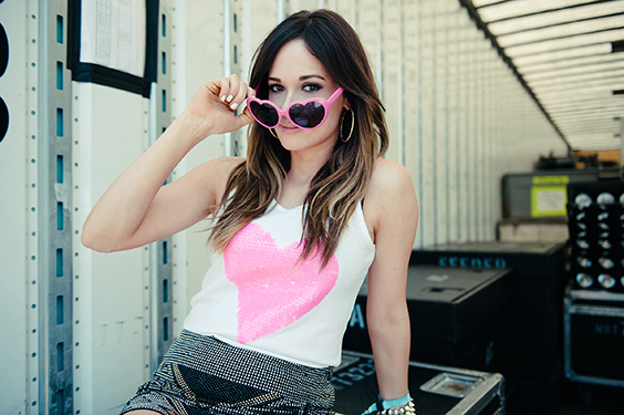 Kacey Musgraves, backstage at the Bonnaroo Music and Arts Festival, Manchester, TN, 2013