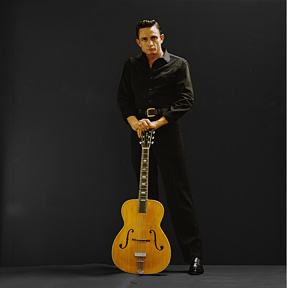 Johnny Cash photographed at Leigh Wiener's Hollywood Studio, April 1962