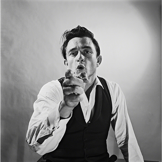 Johnny Cash photographed at Leigh Wiener's Hollywood studio, AUG 3 1960