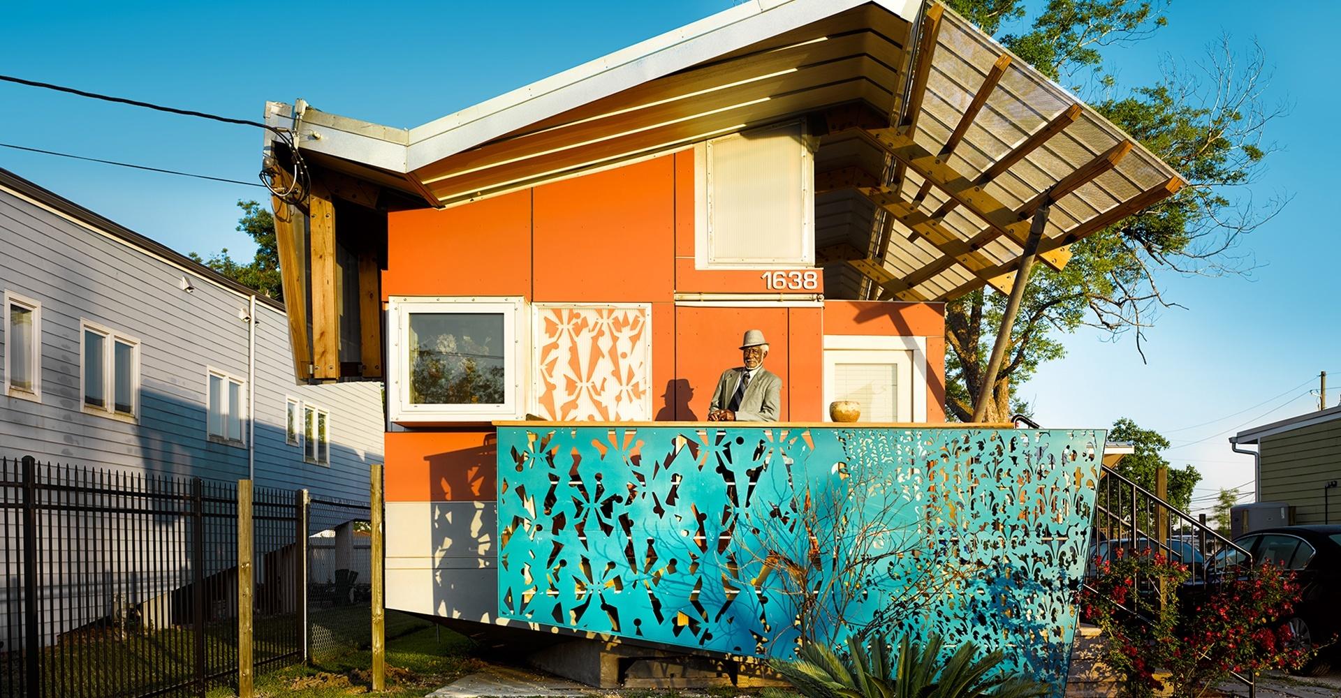 A house on stilts - New Orleans, LA