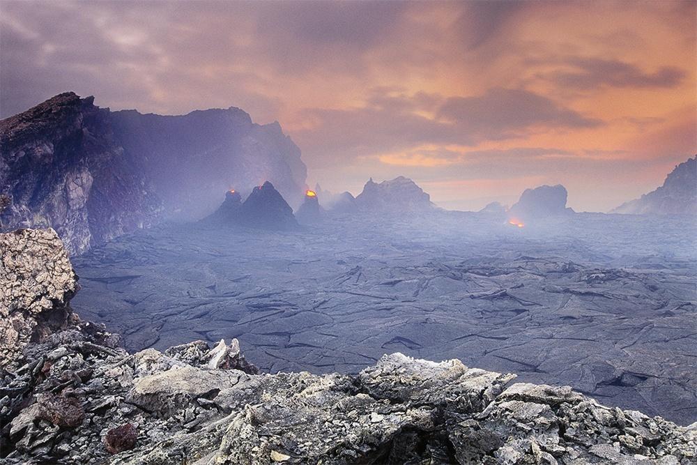 Volcano at dawn, Hawaii, USA