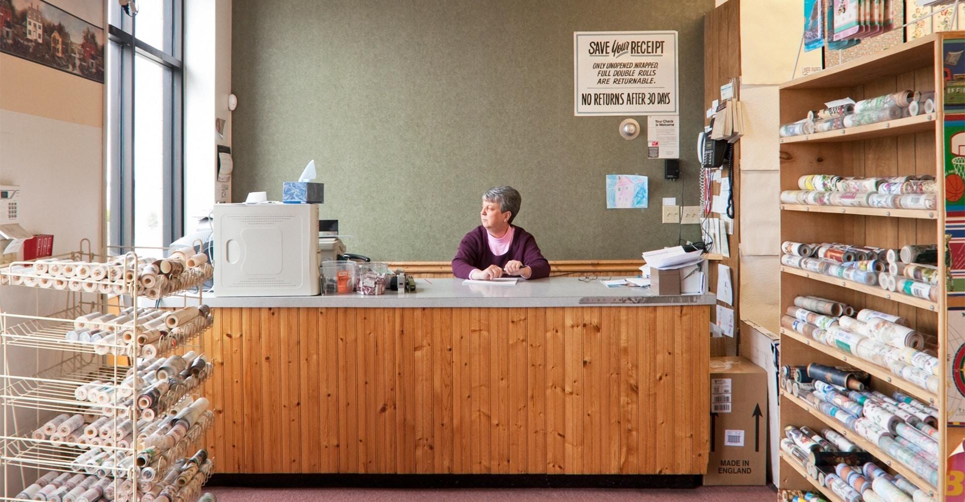 Environmental Portraits - Louise Bacon's Wallpaper Outlet, Fall River, Massachusetts.