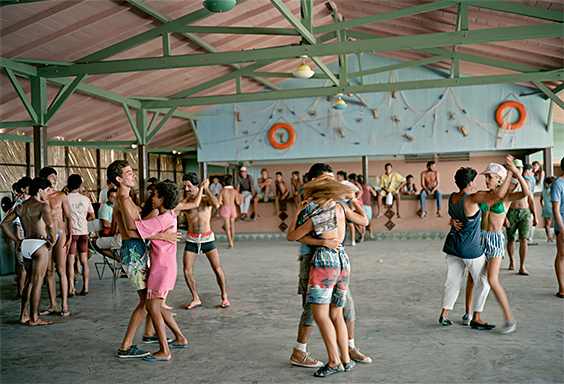 Dancing at the beach, Isabela de Sagua in Villa Clara province, 1992