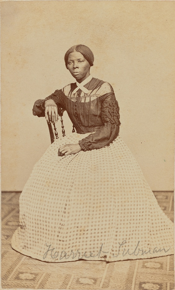 Harriet Tubman; a hitherto unknown carte-de-visite in the Emily Howland photograph album, 1868 or 1869.